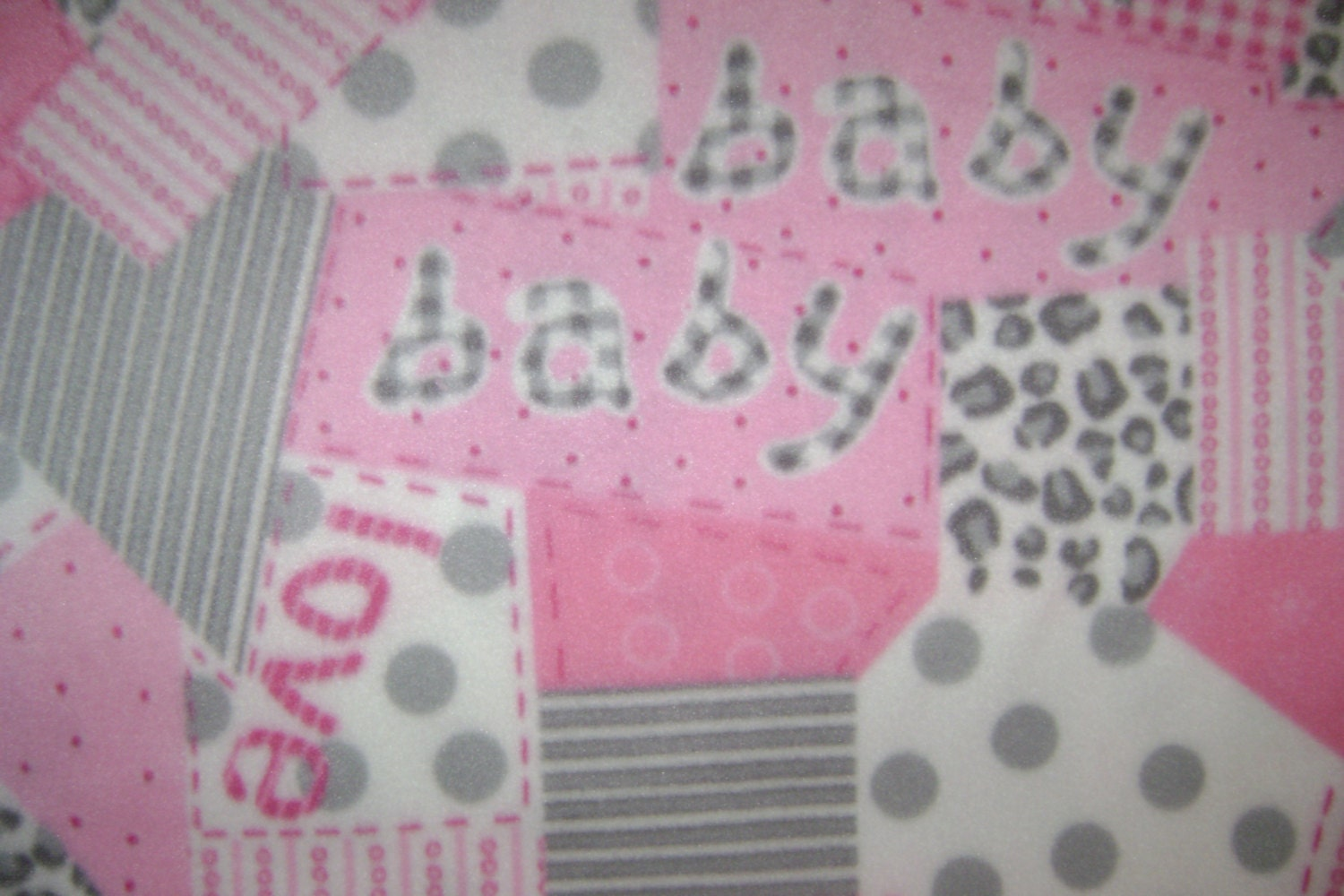 Pink gray baby girl anti pill fleece fabric sold by the yard for Baby girl fabric