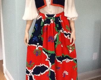 60' Long Skirt,Size S, Bolero Vest