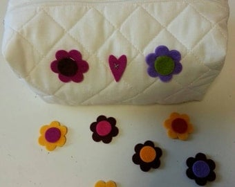 COTTON QUILTED COSMETIC BAG