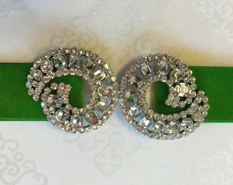 Sparkling Rhinestone Buckles/Sliders,Made in Czech Republic.