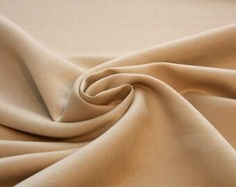 Linen/Rayon Fabric by the Yard - Tan