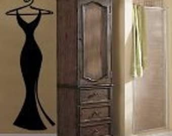 Curvy Black Dress Wall Decal