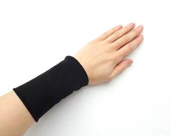 black tattoo cover wrist cuff wristband wrist wrap sport accessory running fitness workout wide sweat band