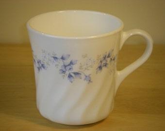 "Corelle by Corning 'Blue Fleur' Cup or Mug, 3-1/4"" Diameter x 3-1/2"" Tall"