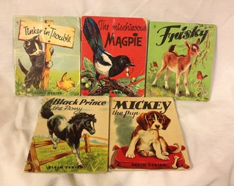 Lot of 5 Vintage Children's Story Books , Elfin Books