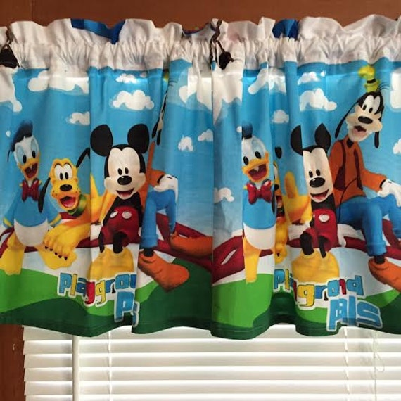 mickey mouse friends curtain window valance extra wide 60 wid