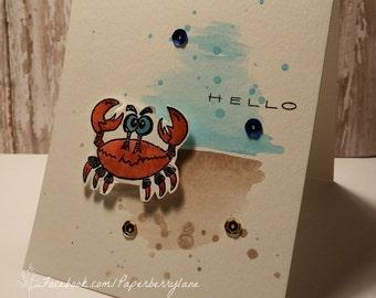 Crabby Hello Card