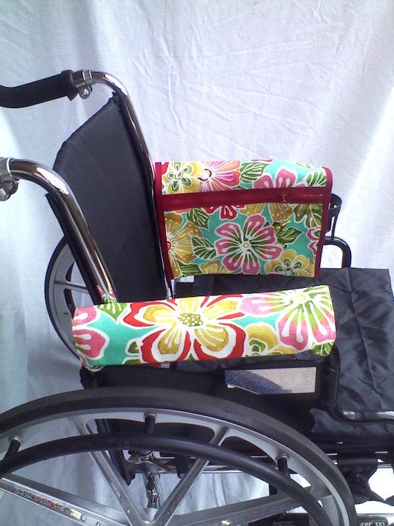 Wheelchair Armrest Pouch Bag Or Walkerlined Zippered Pocket