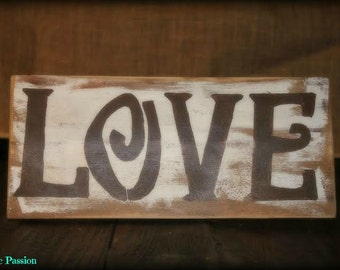 Distressed Love sign