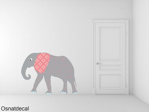 FREE SHIPPING Big Elephant Color Gray. Nursey Wall Decal. Vinyl Wall Decal. Children Decal.Home Decor. Baby Wall Decal. Wall Sticker.