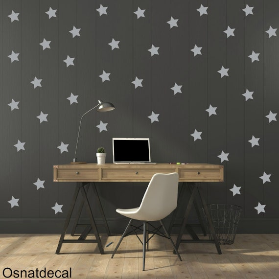 FREE SHIPPING Wall Decal Stars Color Gray, A Large Quantity 170. Wall Sticker .Home Decor.Nursery. Kids Room