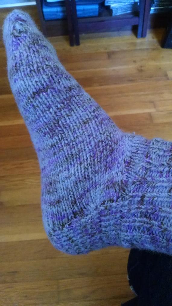 Women's size 8-8.5  Purple ankle socks