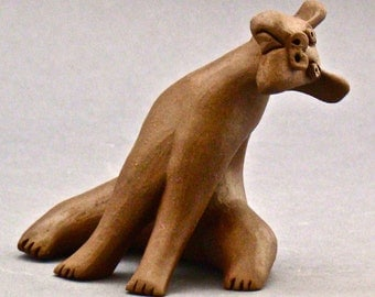 Whimsical Clay Dog Sculpture, Stevic
