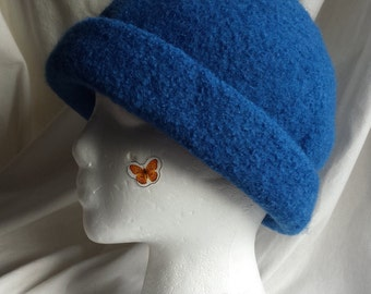 Royal Blue Felted Hat