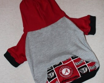 NEW Alabama Crimson Tide Dog Hoodie