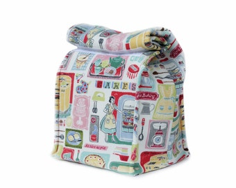 MTO Insulated lunch bag - Retro kitchen