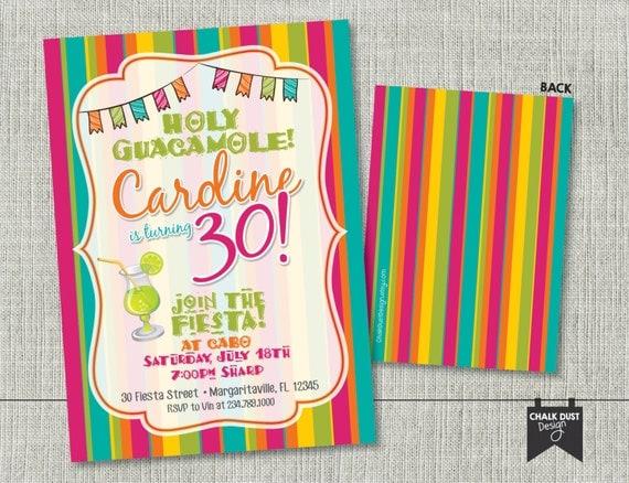 custom fiesta invitations  holy guacamole birthday surprise w