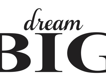 """Primitive Inspirational STENCIL**dream BIG**6""""x12"""" for Painting Signs, Babies/Kids, Airbrush, Crafts, Wall Decor, Gift"""