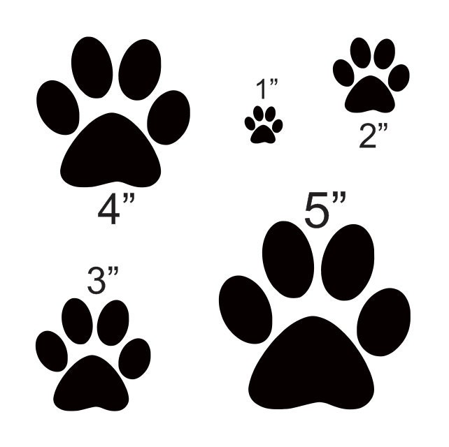 It is a graphic of Genius Free Printable Paw Prints