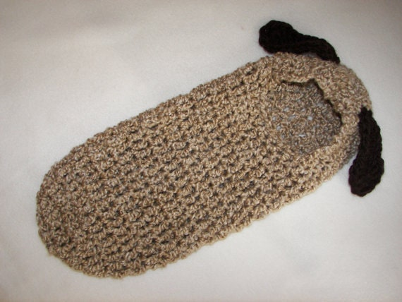 Free Crochet Pattern Hooded Cocoon : Crochet Pattern Newborn Hooded Cocoon Pod Puppy Dog