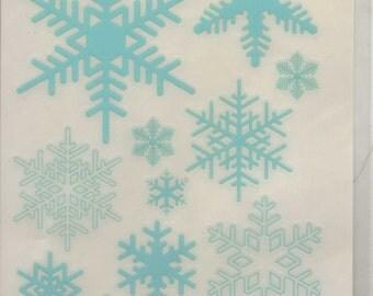 Reminisce Northern Exposure SNOWFLAKES Creative Rub-On Transfers