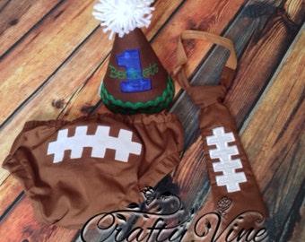 Football cake smash outfit