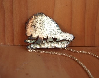 Sterling Silver North American Porcupine Necklace