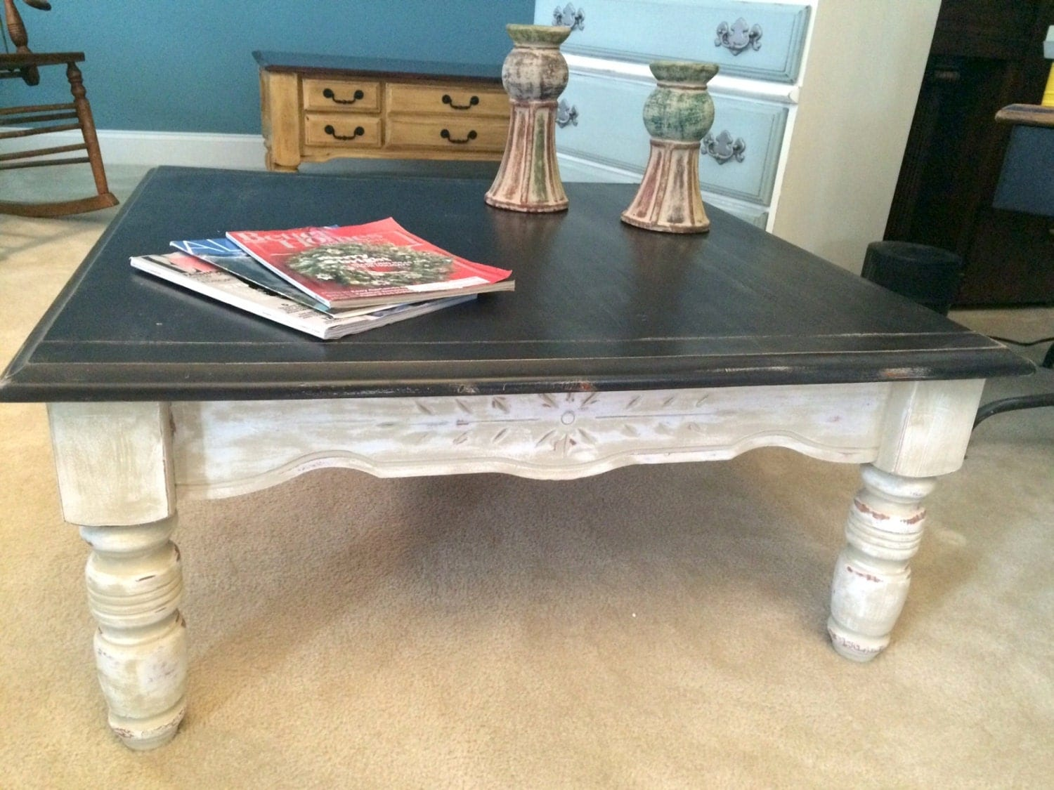 Sold Coffee Table Hand Painted In Annie Sloan Country