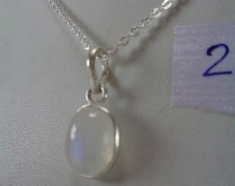 Sale, Natural Oval Rainbow Moonstone Pendant Necklace,6.1 ct June Birthstone Necklace