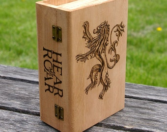 Game of Thrones inspired Lannister house box