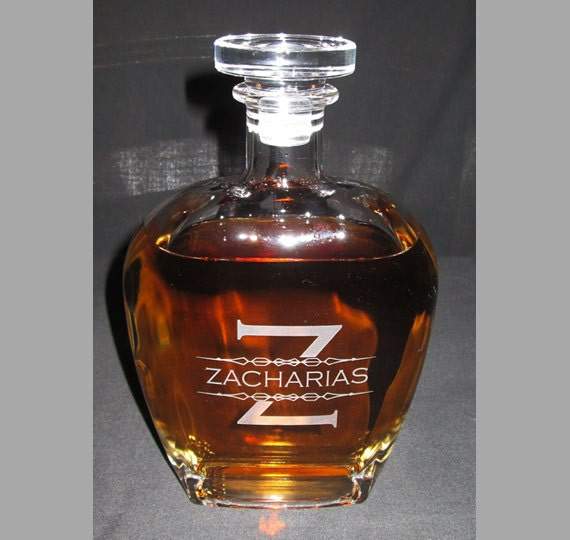 Engraved whiskey decanter personalized whiskey decanter botticelli