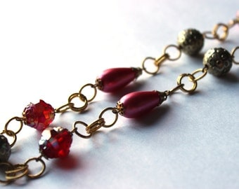 Regal Red and Gold Necklace
