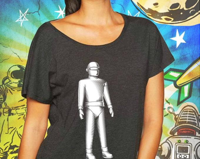 Gort Classic Robot Vintage Black Women's Dolman T-Shirt