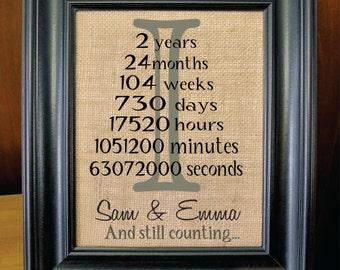 Personalized Wedding Gift, Shower Gift, Burlap, Monogram Wall Art, Customized Gift, Housewarming Gift. (I-M03)