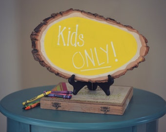 Yellow Wood Chalkboard