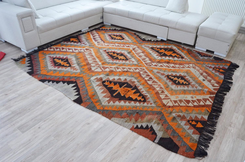 geometric big feet 200x240 cm big size rug by kayakilims. Black Bedroom Furniture Sets. Home Design Ideas