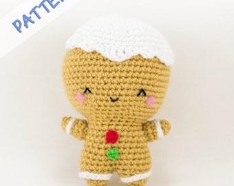 Gingerbread Crochet Pattern - Crochet Gingerbread Man Pattern - Gingerbread Doll Pattern - Amigurumi Gingerbread Man Pattern