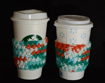 Crochet Coffee To-Go Cup Sleeve - My Favorite