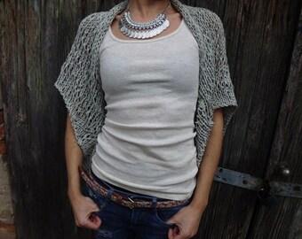 Women Shrug Summer Shrug Boho inspired shrug Loose knit cotton summer shrug Beach cover up
