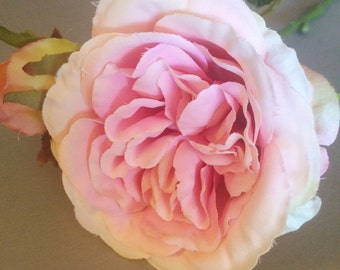 Vintage Pink Cabbage Artificial Roses