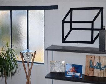 Wall decor, minimalist geometric rectangle pattern