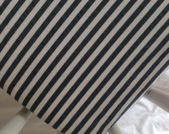 SALE! Grey striped fitted crib sheet