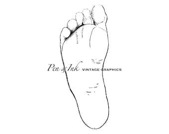 Bottom of Foot Digital Vintage Graphic
