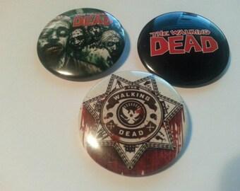 The walking dead button set
