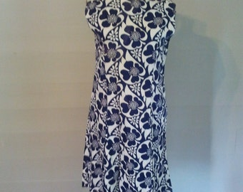 1960's A-line Dress in Royal Blue