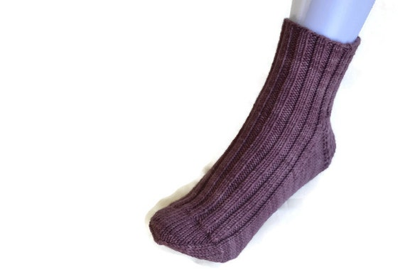 Hand Knitted Bed Slipper Socks Womens Comfy Winter Wear, Womens Accessory, Womens winter accessory, Bed Slippers, Bed Socks, Knitted Socks