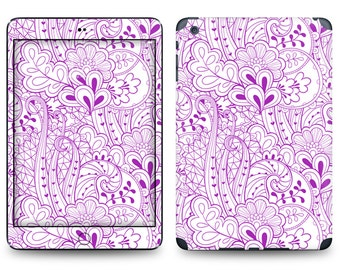 Purple Flourish Print - Apple iPad Air 2, iPad Air 1, iPad 2, iPad 3, iPad 4, and iPad Mini Decal Skin Cover