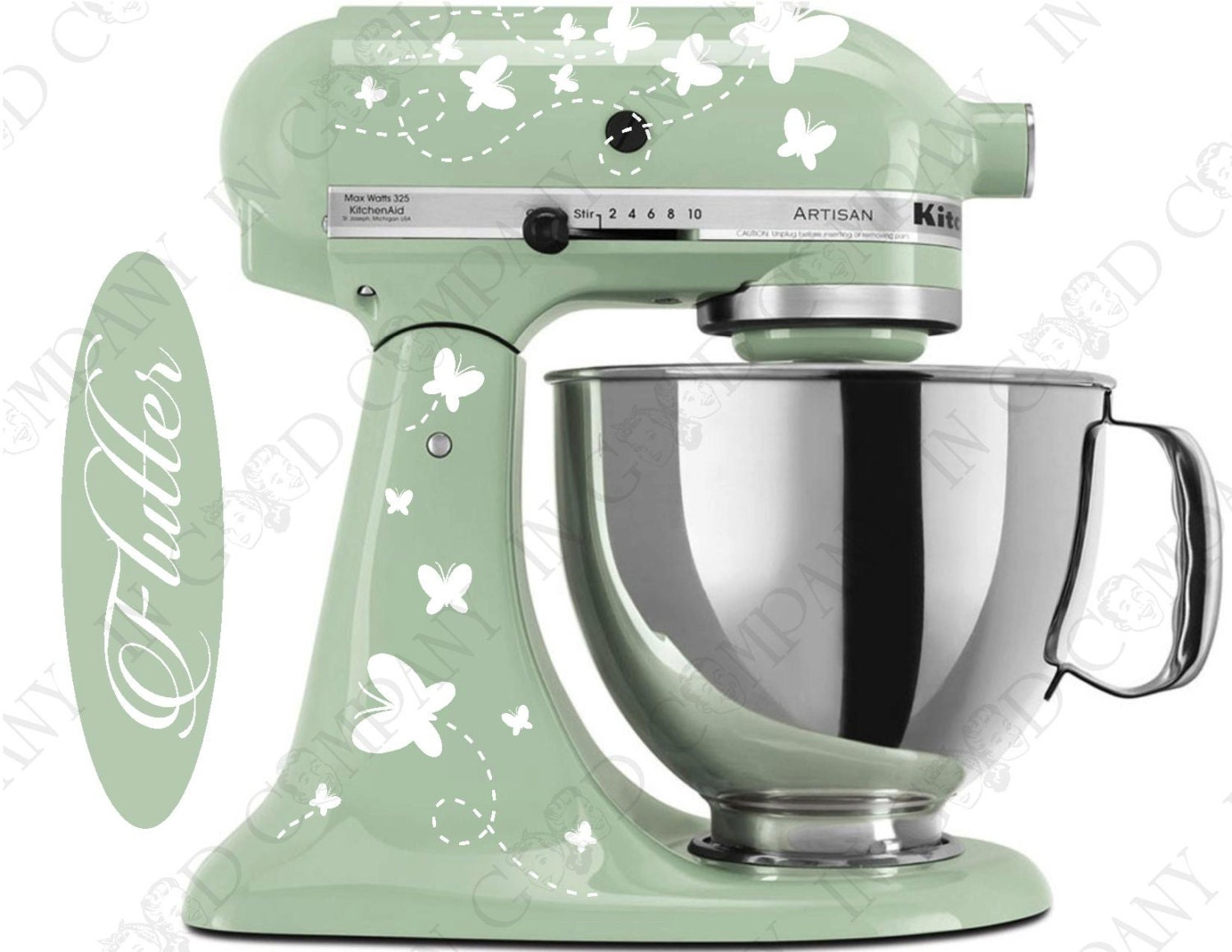 Butterfly Print Decal Kit For Your Kitchenaid Stand Mixer Plus