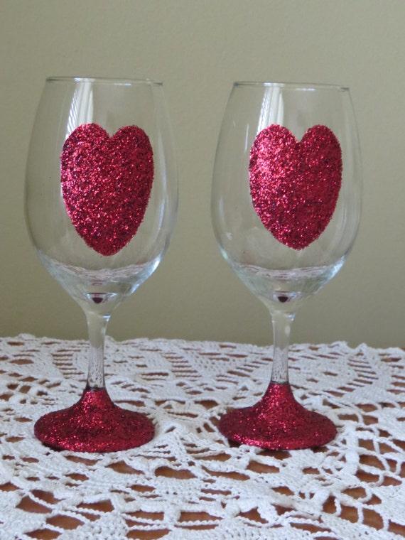 like this item - Valentine Wine Glasses