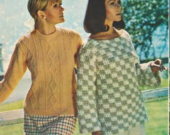Geometric Ladies Sweater Crochet Pattern Download PDF Pattern Digital Download Winter Fashion Crochet Sweater Pattern for Women Gift for Her
